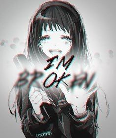 I'm ok. image by sad_eyes💔. Discover all images by sad_eyes💔. Find more awesome anime images Manga Anime, Manga Art, Anime Art, Sad Anime Quotes, Manga Quotes, Sad Quotes, Fake Smile Quotes, Depressing Quotes, Sad Anime Girl