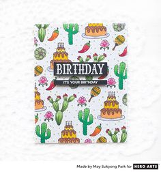 My Monthly Hero: Creativity in a Box April 2018 idea #2 by May Sukyong Park. Kit and add-ons available for purchase Monday, April 2.