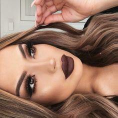 beautiful, eyeliner, eyes, hair, lips, lipstick, makeup, pretty