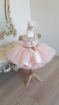 Pink and Gold Tutu Dress Pageant Dress with Gold Lace | Etsy Baby Pageant Dresses, Ball Gown Dresses, Flower Girl Dresses, 15 Dresses, Quinceanera Dresses, Flower Girls, Party Dresses, Little Girls Fancy Dresses, Vintage Baby Dresses