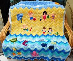 Illuminate Crochet: Remix Friday: Seaside Theme Blanket to Annabel's Design