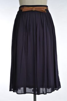 BELOW THE KNEE PLEATED SKIRT WITH LINING, SIDE POCKETS AND BELT - 100% RAYON. Great option for sister missionaries.