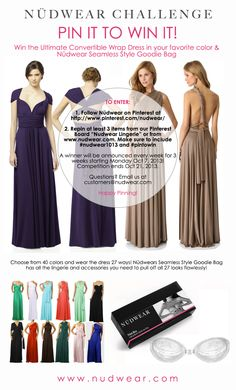 Win the Ultimate Convertible Wrap Dress in your favorite color  amp    Nudwear Goodie Bag e5c2024f0