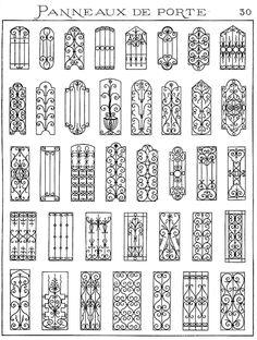 Sketchs of some of Karig's work // Forge salers - Ferronnerie d'art, artisan forgeron, fer forgé Iron Windows, Iron Doors, Gate Design, Door Design, Window Grill Design, Balustrades, Iron Balcony, Wrought Iron Gates, Iron Art