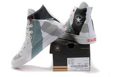 7544b8de1b4a Grey paint brushstroke Chucks  converse  chucktaylor  hightops Cheap  Converse Shoes