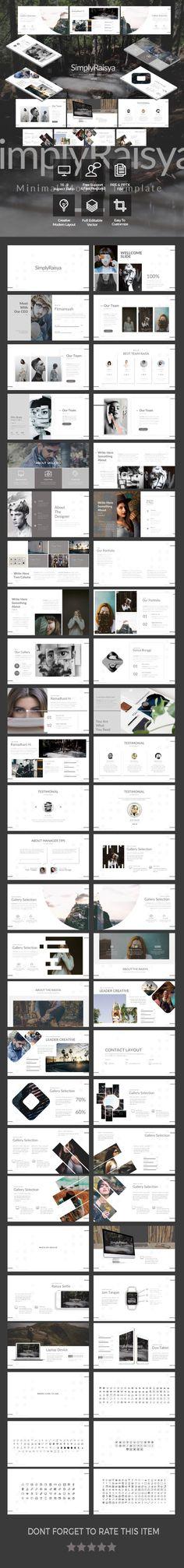 SimplyRaisya - Simple Google Slide Template - Google Slides Presentation Templates