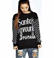 boohoo Ellie Santas Favourite Brunette Xmas Jumper - Go back to nature with your knits this season and add animal motifs to your must-haves. When youre not wrapping up in woodland warmers, nod to chunky Nordic knits and polo neck jumpers in peppered mar http://www.comparestoreprices.co.uk/womens-clothes/boohoo-ellie-santas-favourite-brunette-xmas-jumper-.asp