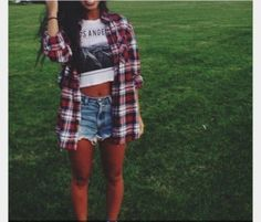 t-shirt large red plaid shirt white country blouse
