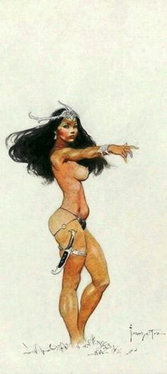 Dejah Thoris by - Frank Frazetta -