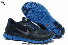 Nike Free Run 3 Mens Light Midnight Game Royal Silver 510642-303