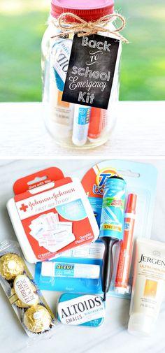 Emergency Mason Jar Teacher Kit | Click Pic for 18 DIY Back to School Teachers Gifts Ideas | Handmade Gifts for Teachers Beginning of Year