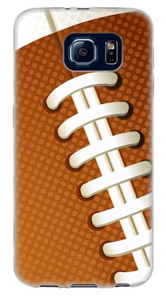 Amazon.com: {Ball Team Sports Football} Soft and Smooth Silicone Cute 3D Fitted Bumper Back Cover Gel Case for Samsung Galaxy S6 {Color is Brown and White}: Cell Phones & Accessories