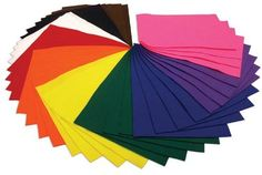Jumbo Pack of Acrylic Felt - 60 A4 Sheets in 15 Assorted Colours: Amazon.co.uk: Toys & Games