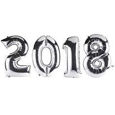 LQZ(TM) 2018 Ballon Chiffre Gonflable Fête Décoration Nouvel An Party Soirée 4 Pcs: Matériel: matériau en aluminium de haute qualité…