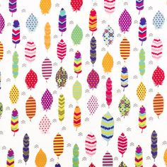 Bright Feathers Apparel Fabric