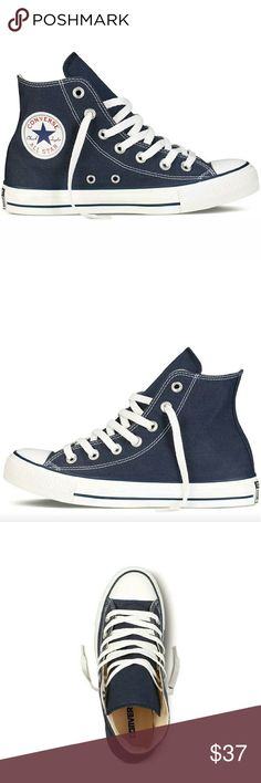 SOLD Converse All Star Chuck Taylor HI CONVERSE ALL STAR CHUCK TAYLOR HI HIGH TOP SNEAKERS WOMEN'S SIZES 7, 8, 9 (NAVY)  A TRUE ICON The Converse Chuck Taylor All Star celebrates the iconic original with classic details on a comfortable canvas upper.  BENEFITS Canvas upper for lightweight, flexible comfort Rubber outsole for durable traction Medial eyelets enhance airflow  PRICE FIRM Converse Shoes Sneakers