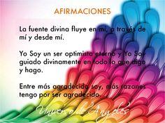 AFIRMACIONES POSITIVAS.  #UniversoDeAngeles