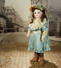 """Fascination"" - Sunday, January 8, 2017:                       15  French Bisque Bebe by Rabery and Delphieu, Original Costume, Signed Shoes"