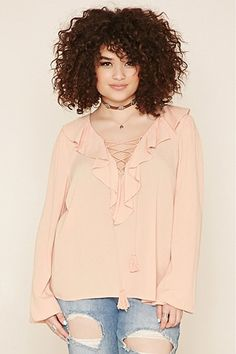 Collect fab plus size tops: prints, tees, peplum, studded   Forever 21 - Tops   PLUS SIZE   Forever 21