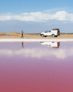 Pink Lagoon on the Skeleton Coast, Namibia by Wandering Wheatleys