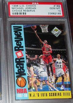 1998 UD CHOICE RESERVE Michael Jordan Card #189 PSA 10 GEM MINT BULLS POP 4 #ChicagoBulls