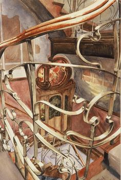 Paul Dmoch Balustrade - detail, Maison Victor Horta, Bruxelles