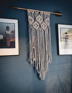 Macrame wall hanging arrow wall art boho home decor