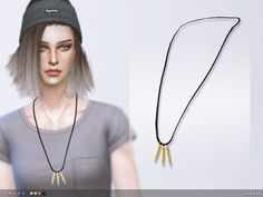 The Sims Resource: Chloe Necklace by toksik • Sims 4 Downloads