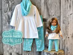 Snowflake Scarf Set:  For little ladies and their dollies!  66% off retail through 11/9/15