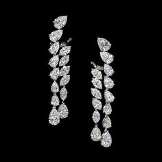 Jahan pear and marquise diamond earrings