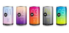 Beautiful gradient 2B vitamin shots and water packaging PD
