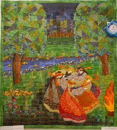 SummerDance1 by Luana Rubin, via Flickr - Moscow Quilt Exhibition - Sept 2012