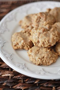 Loaded Oatmeal Cookies with Browned Butter Glaze I One Lovely Life