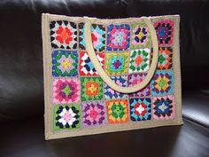 crochet tote inspiration (ah tas met granny's gemaakt door Angela)