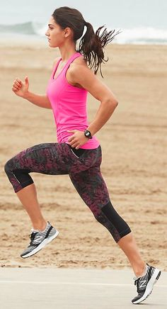fun pink workout outfit