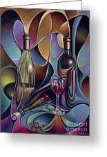 Wine Spirits Greeting Card
