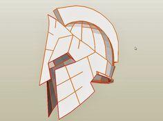 Dali-Lomo: Spartan 300 King Leonidas Costume Helmet DIY: Cardboard (with PDF template)