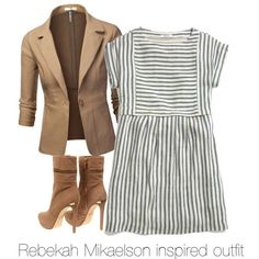 Rebekah Mikaelson inspired outfit/The Originals by tvdsarahmichele on Polyvore featuring Madewell, J.TOMSON, MICHAEL Michael Kors, TheOriginals, rebekahmikaelson and Clairholt
