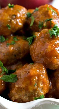 Turkey Cocktail Meatballs with Apple Mustard Glaze Recipe