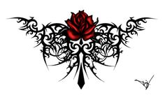 Tribal Rose Tattoo by quicksilverfury