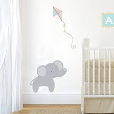 A lovely pastel jungle elephant wall sticker.Our nursery wall stickers are available in two types of vinyl, matt for a brighter print colour or fabric vinyl which has a softer print and a textured feel to the vinyl, this option is also repositionable. This wall sticker is part of a range designed to compliment each other, you can pick and choose to suit your room design or use on it's own. http://www.notonthehighstreet.com/nutmeg/product/pastel-jungle-train-abc-wall-sticker…