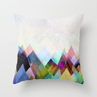 Throw Pillow featuring Graphic 104 by Mareike Böhmer Graphics