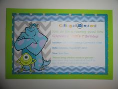 monsters inc party invite