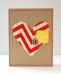 I have a few more cards to share made with Studio Calico's December kits, Blue Note .   I cute the heart out with my Silhouette, and stitche...
