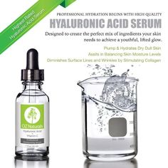 Best Hyaluronic Acid Serum For Skin - Potent Anti Aging Serum - Best Anti Wrinkle Serum with Vitamin C - Facelift In A Bottle HA Serum - 100% Pure No Cream - Top Reviews - Best Skin Care - Help Your Skin Look Younger And More Vibrant - Sells Out Fast:Amazon:Beauty