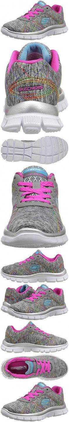 Skechers Kids Skech Appeal-It's Electric Training Shoe (Little Kid/Big Kid), Gray/Multi, 5 M US Big Kid