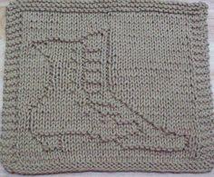 DigKnitty Designs: Victorian Boot Knit Dishcloth Pattern
