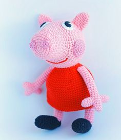 Peppa pig crochet pattern - free                                                                                                                                                                                 More