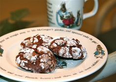 Chocolate Crackle Cookies from ghiradelli brownie mix