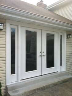 French Doors Installed By Masonry & Glass Systems With Matching on Best Door Photos Collection 7156 Garage Makeover, Farmhouse Exterior, Door Installation, French Doors Exterior, Diy Door, Entry Doors, Energy Efficient Door, Patio Door Installation, Doors